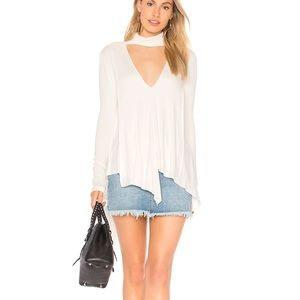 FREE PEOPLE ivory uptown turtleneck